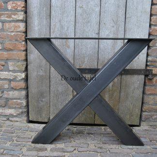 Kruispoot X 10 bij 10 cm staal stalen onderstel